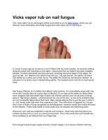 How+to+use+vicks+vapor+rub+for+toenail+fungus