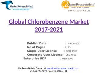 Global Chlorobenzene Market 2017-2021.pptx