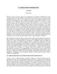 Camino  a La Oracion Ferviente.doc