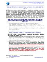 PROCEDIMENTO PARA CONFIRMAR VENDAS PENDENTES NO TEF 2.doc
