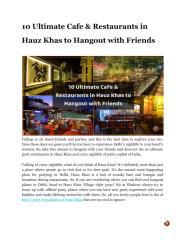10 Ultimate Cafe & Restaurants in Hauz Khas to Hangout with Friends.pdf
