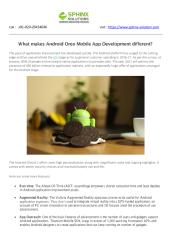 what makes Android Oreo Mobile App Development different.pdf