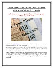 Trump wrong about H-1B Threat of 'being Bangalored' illogical  US study.pdf