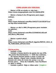 Como jogar GTA Torcidas.rtf