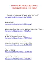 Padres do IBP (Instituto Bom Pastor) - Palestras e Homilias - 116 vídeos!.pdf