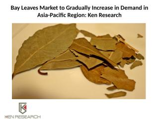 Bay Leaves Market to Gradually Increase in Demand.pptx