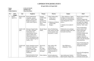 LAPORAN BULANAN I1 Sri.doc