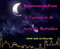 Recommandations à l'occasion du moi de Ramadhan Reccomandations_ramadan