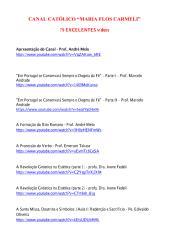 79 Excelentes Vídeos Católicos - Canal 'Maria Flos Carmeli'.pdf