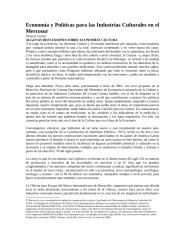 Economía y Políticas para las Industrias Culturales en el Mercosur.docx